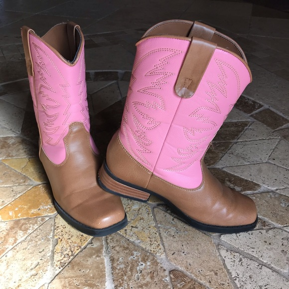 186008c2725 Pink & brown cowgirl boots